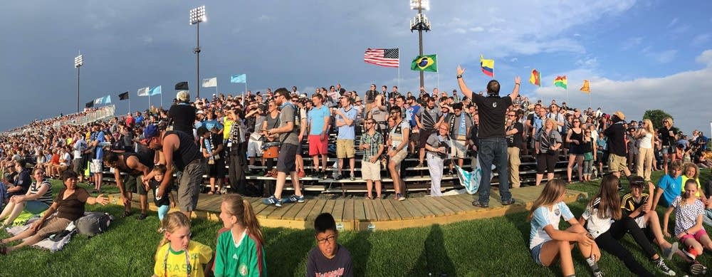 The Dark Clouds cheered on the Loons.