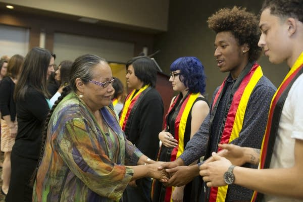 Native American high school students are honored.