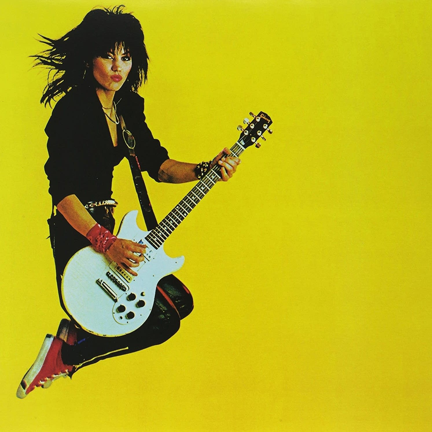 Joan Jett's 1983 'Album' with cover photography by Mick Rock.