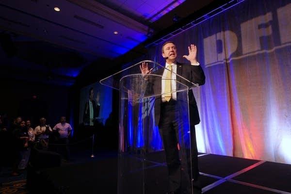 DFL Party Chair Ken Martin opens the evening program