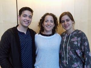 Rena Kraut (center) with Elio Hernandez Rojas and Ninian Rodriguez Rego