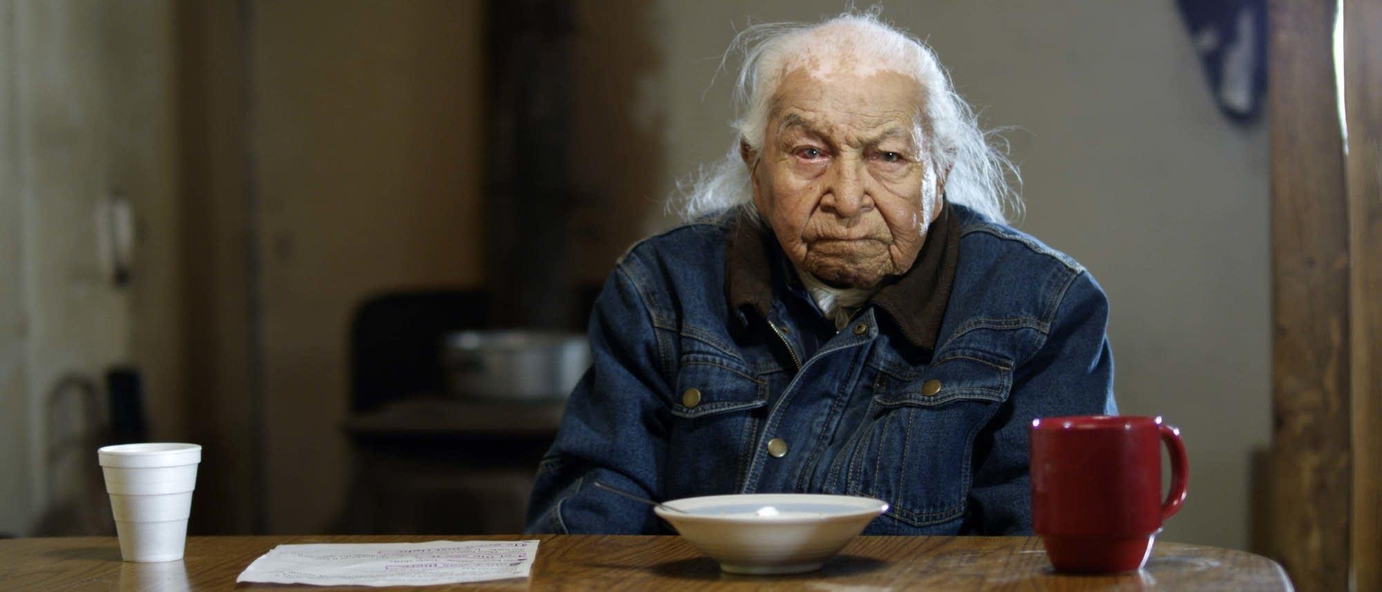 Lakota Elder Dave Bald Eagle plays Dan
