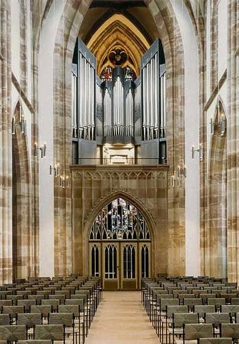 1994 Kuhn organ at the Collegiate Church of Saint Arnual, Saarbrücken,...