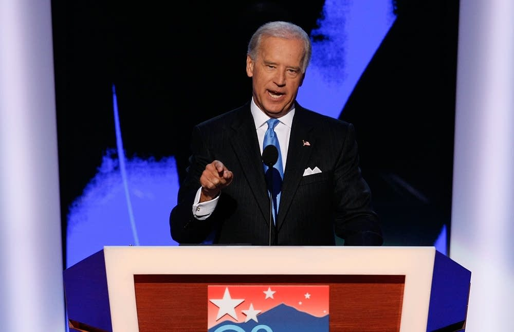 Joe Biden speaks on day three of the DNC