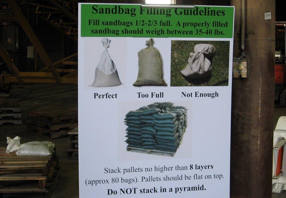 Sandbag sign