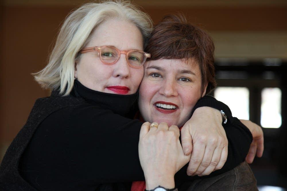 Ann Marsden with longtime friend Lisa Nebenzahl