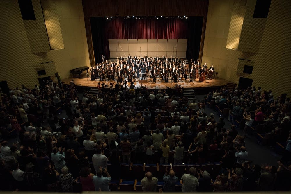 The orchestra received several standing ovations.