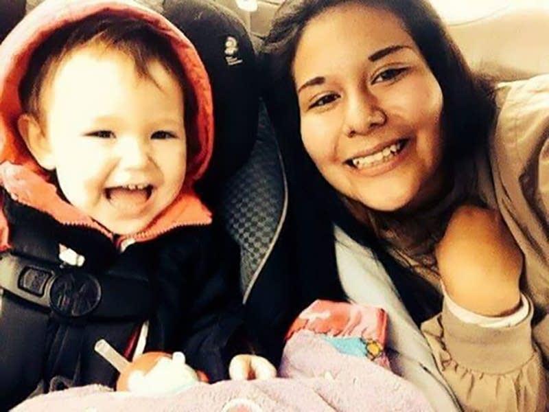 Samantha Burnette with her niece