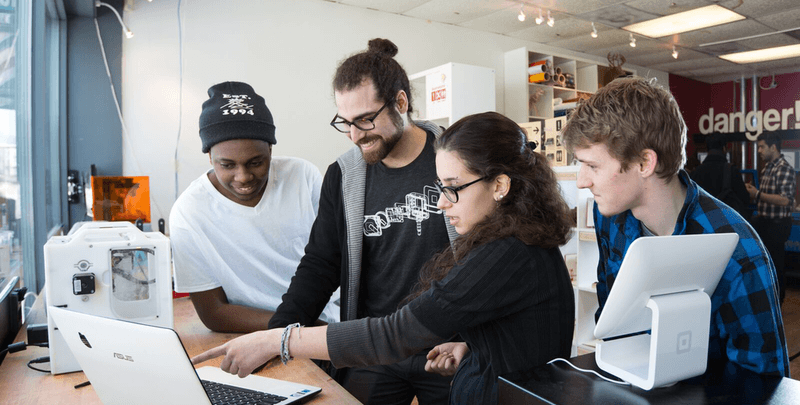 Nadeem Mazen instructs students at a former community space he ran
