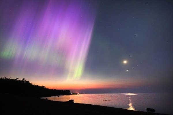 An Aurora is seen over Lake Superior on July, 15, 2012.