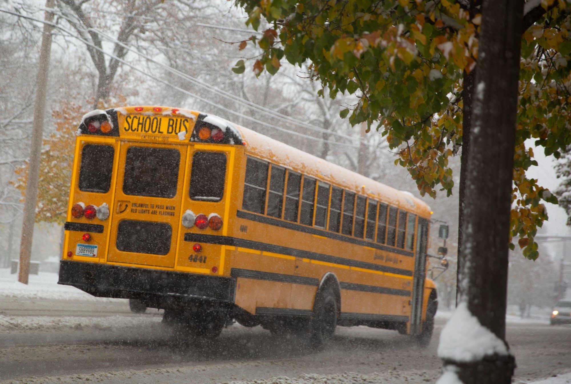 snowy day in saint paul