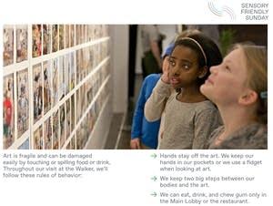 A presentation helps visitors understand 'sensory-friendly Sundays.'