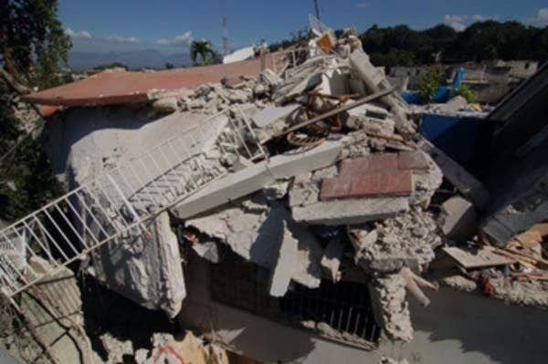 Collapsed building in Haiti