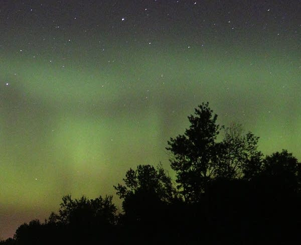 The northern lights north of Duluth.