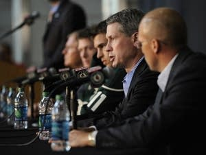 Minnesota Wild GM introduced Zach Parise and Ryan Suter in July 2012
