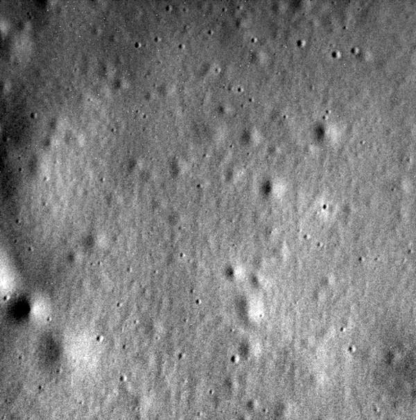 Last image of Mercury before impact