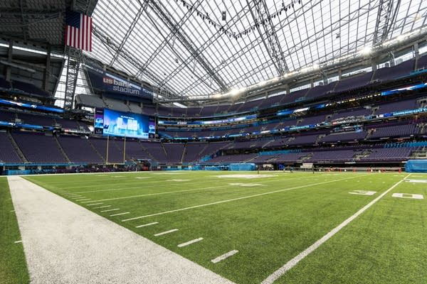 Preparations for the Super Bowl are in their final stages on Tuesday.