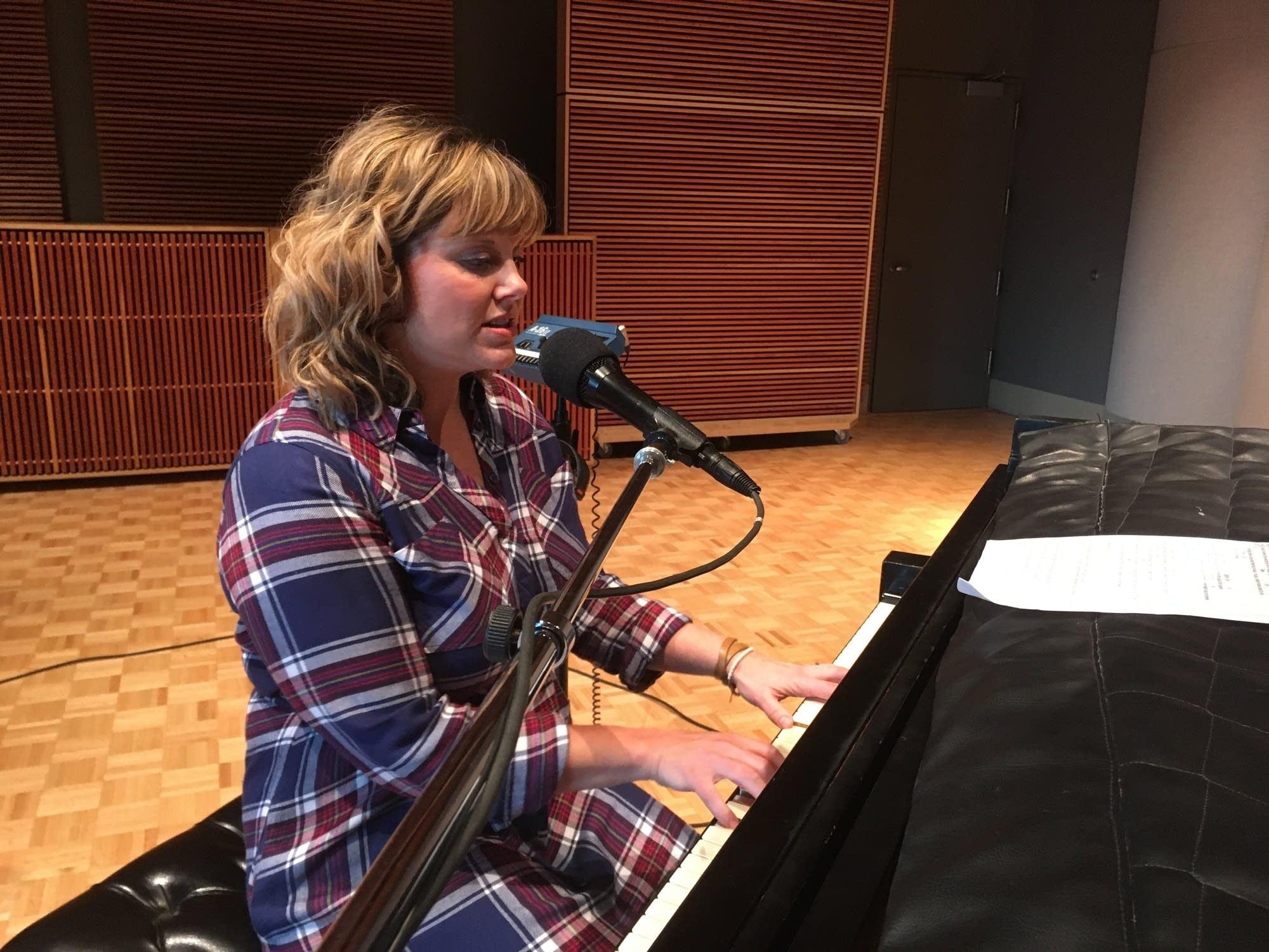 Vicky Emerson in the Radio Heartland studio