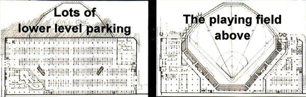Lowertown ballpark site rendering