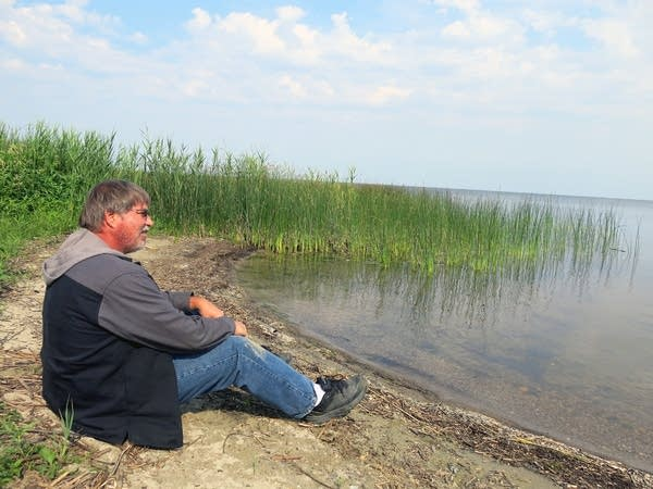 Russ Brenny on the shore of Red Lake