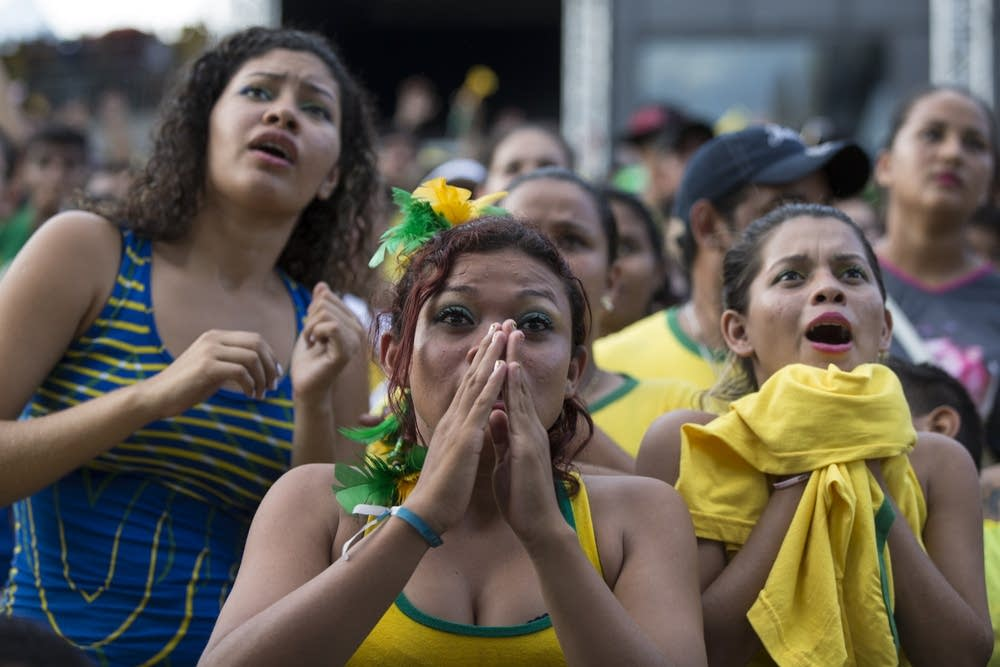 Fans of the Brazilian football team