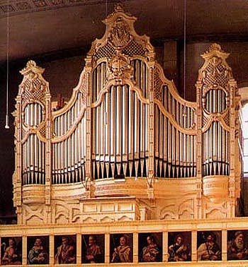 1905 Link organ at the Evangelical Church in Giengen-an-der-Brenz, Germany