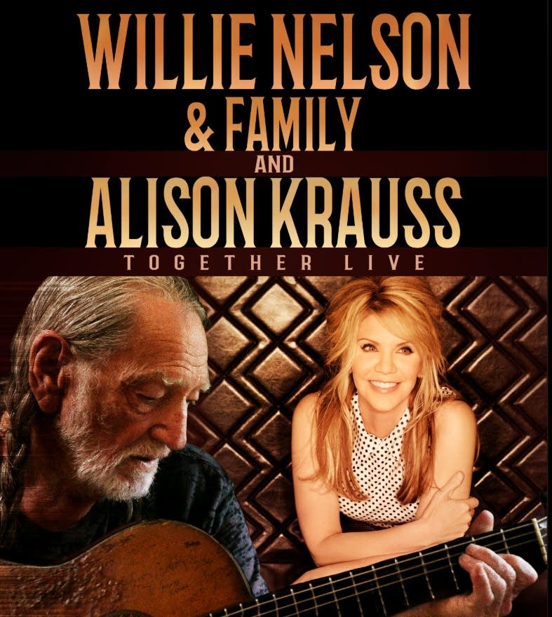 Willie Nelson and Alison Krauss tour graphic