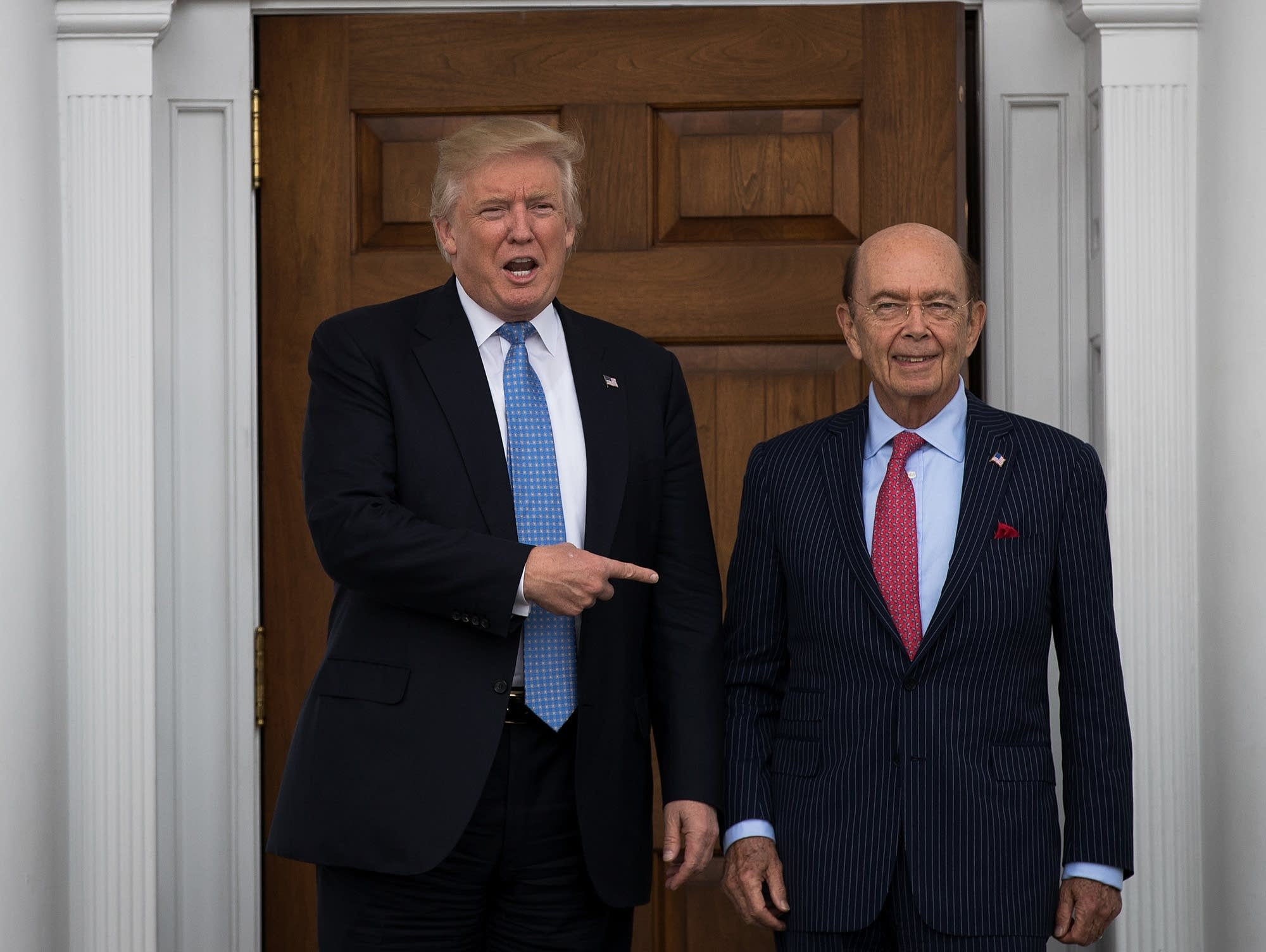 Donald Trump and Wilbur Ross