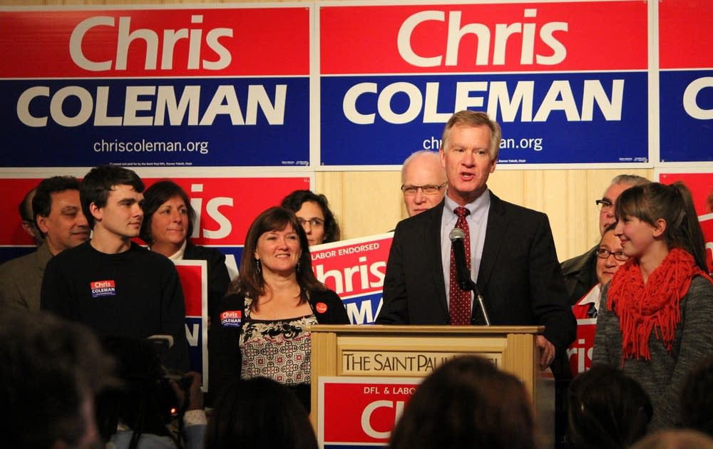 Coleman greets supporters