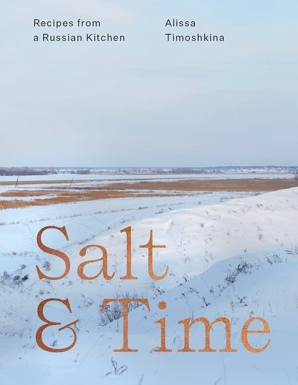 Salt & Time book cover with snowy rural landscape