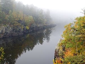 The St. Croix River is seen from Interstate State Park.