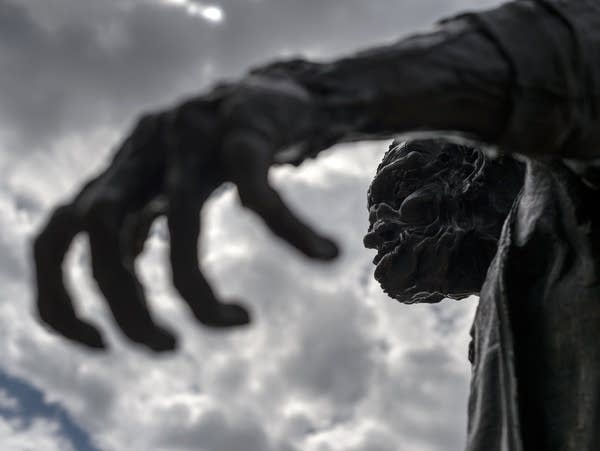 Statue of Frankenstein's monster in Geneva