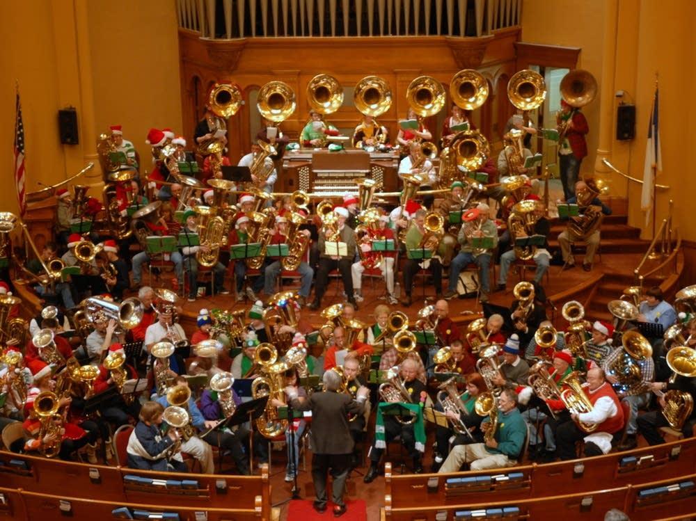 Christmas tubas
