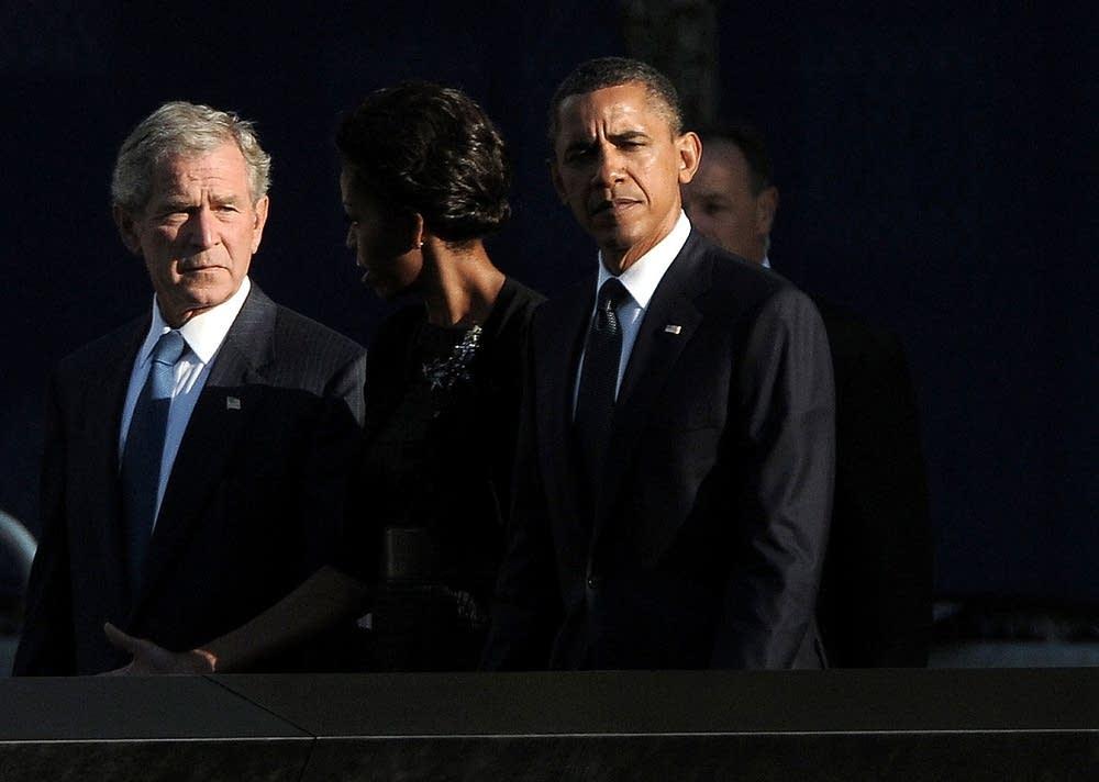 Presidents at 9/11 memorial
