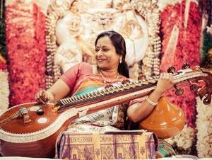Nirmala Rajasekar is one of the top performers of the veena.