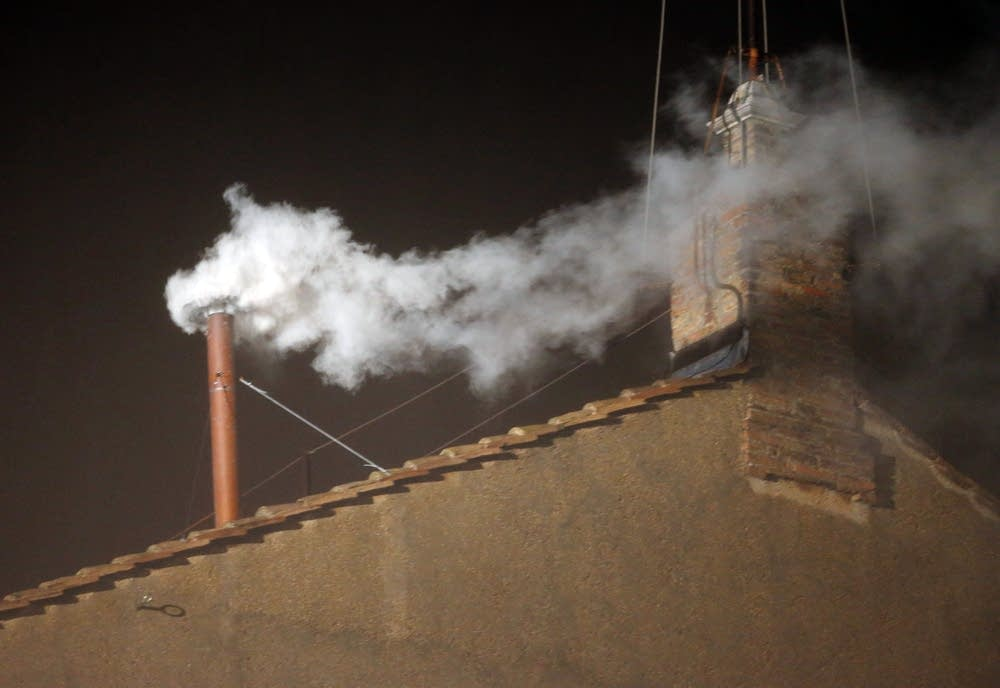 White smoke over the Sistine Chapel
