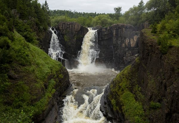 High Falls on the Pigeon River.