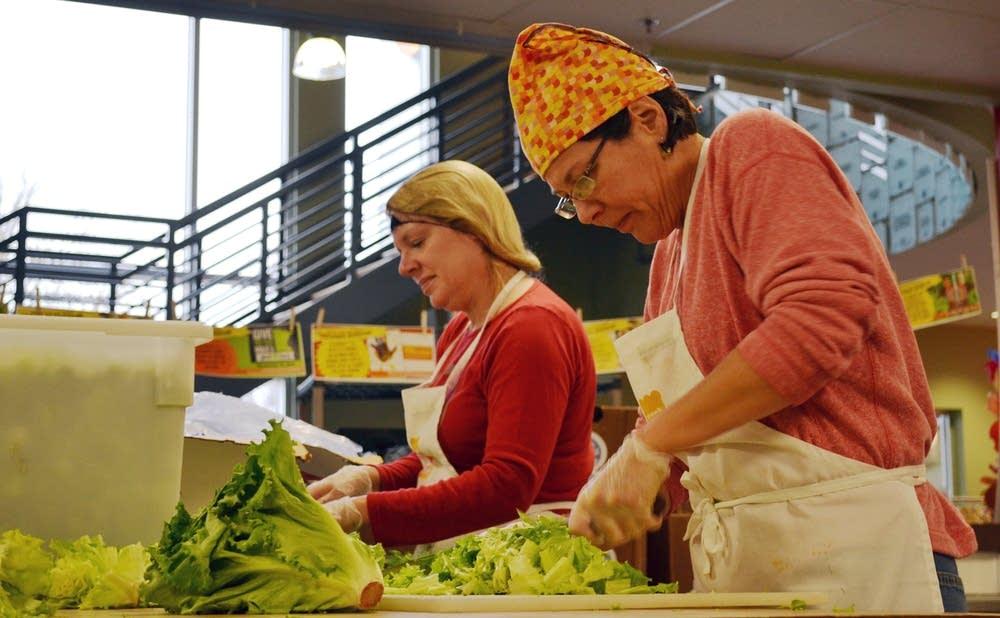 Prepping salads