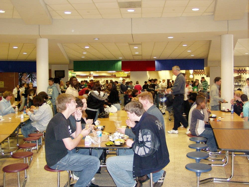 High school lunchroom