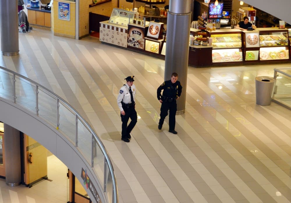 Security officers at the Mall of America