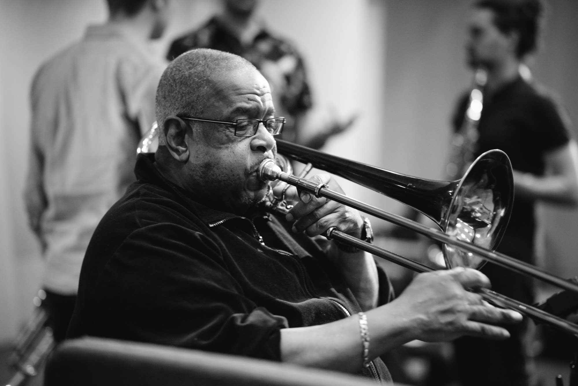 Fred Wesley performs in The Current studio