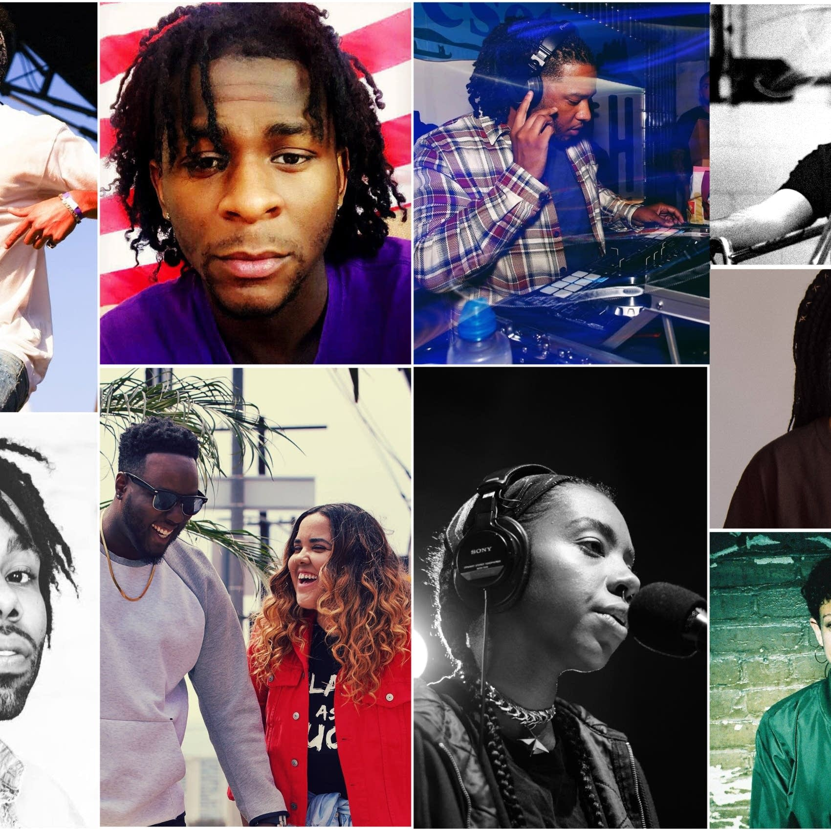 Collage of local Hip Hop artists