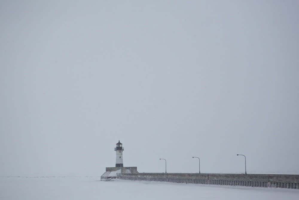 Snow on the Duluth Harbor