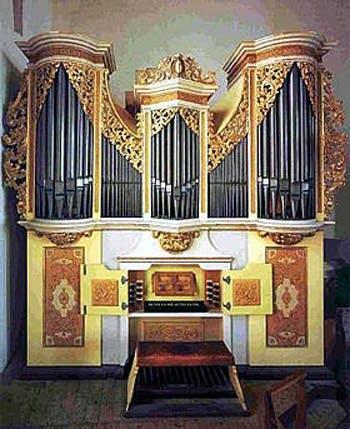 1714 Silbermann organ at Freiberg Cathedral, Germany