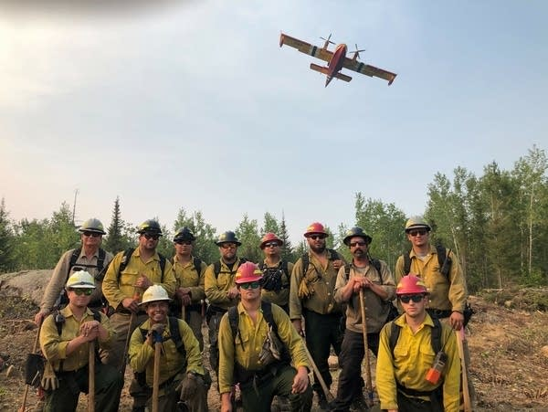 A group of wildland firefighters