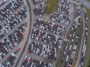 Thousands of recalled Volkswagen diesels are being stored in Brainerd.