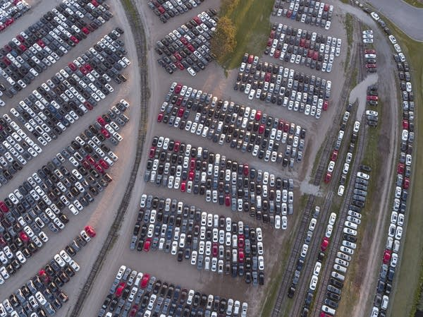 Thousands of recalled Volkswagen diesels are being stored in Brainerd.