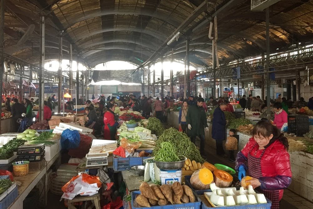 A market in the city of Nanchang