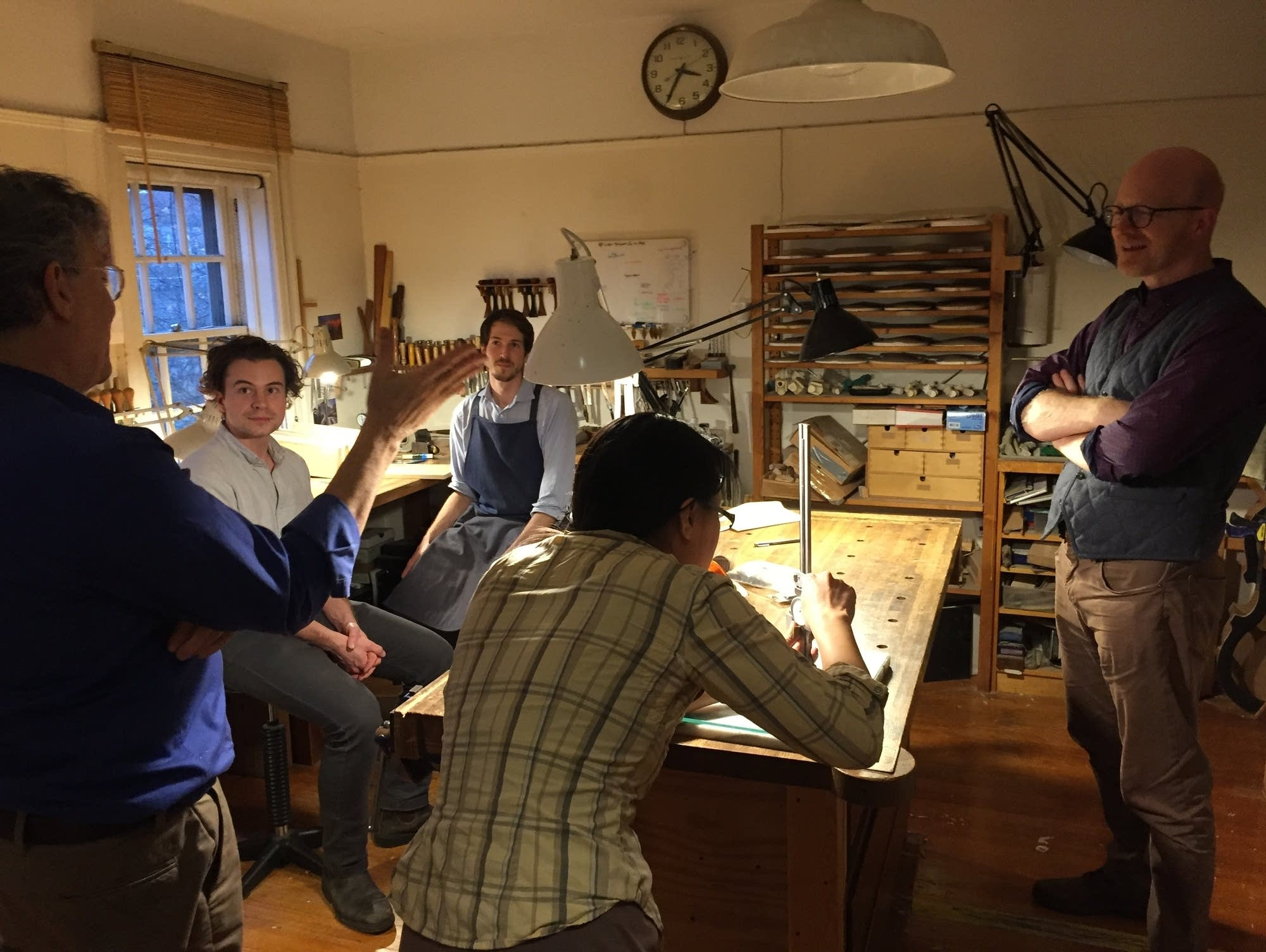 The workshop of Brooklyn violin-maker Sam Zygmuntowicz