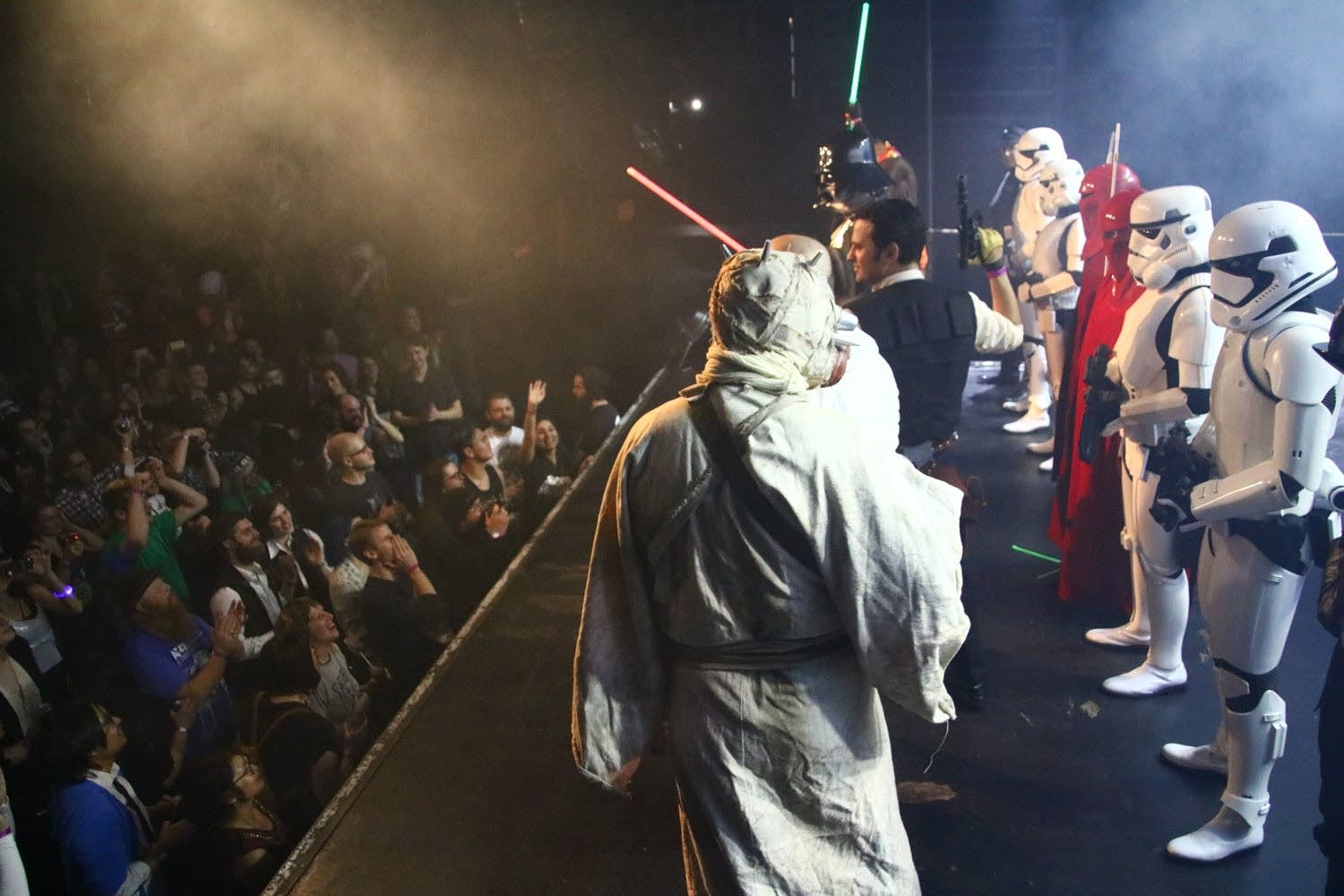 Star Wars characters onstage at First Avenue 2